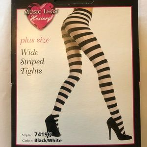 847bd3bedd1f5 Music Legs Accessories - Music Legs Plus Size Wide Striped Tights
